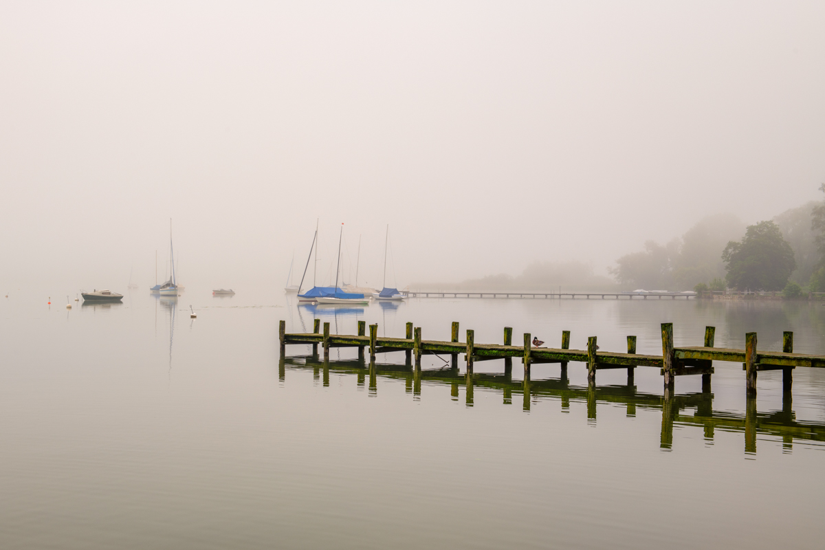 A foggy morning at Ammersee