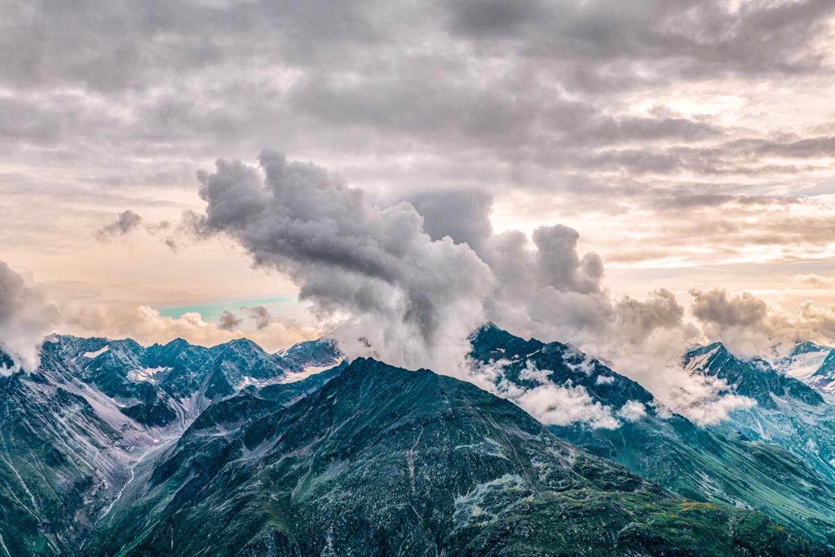 Rain clouds over the Stubaier mountains