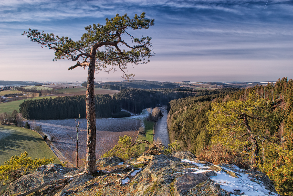 Franconian Forest – Enjoying a fantastic View over the River Saale Valley.