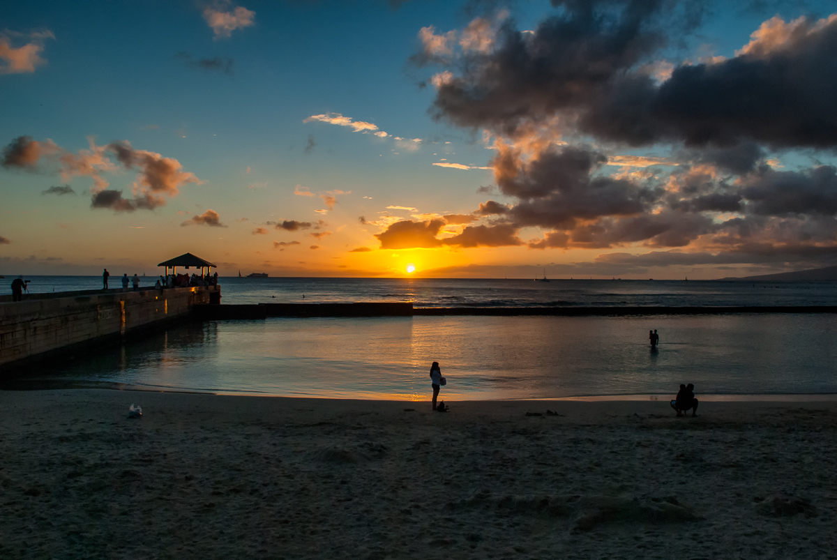 Waikiki Beach Sunset – Just wonderful!