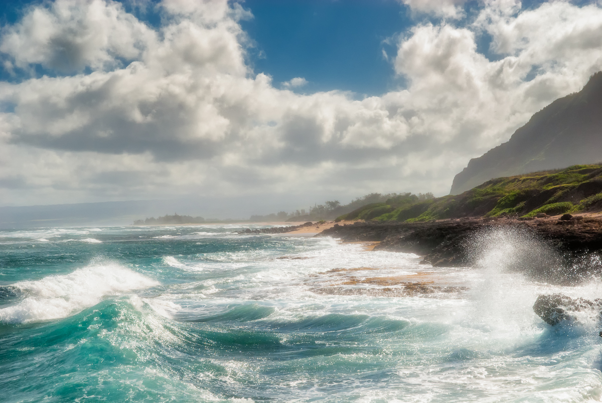 Big Waves at North Shore of Oahu